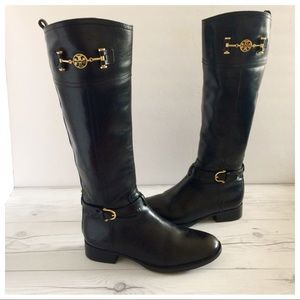 7d48ed71bd4869 Tory Burch Shoes - Tory Burch Nadine Leather Knee High Riding Boots